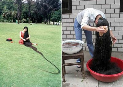 Most Amazing Pictures and Facts - World's Longest Hairs - Xie Qiuping