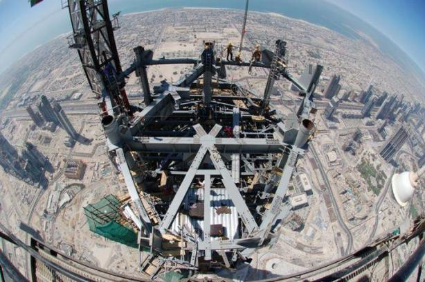 Most Amazing Pictures - pic is taken from world's tallest building 'Burj Dubai'