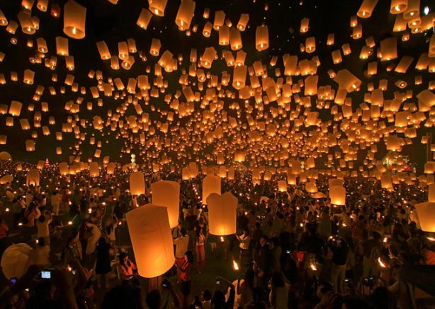 Most Amazing Pictures - Sky Lantern Festival - Taiwan.